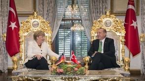 Erdoğan Merkel görüşmesi..